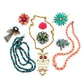 A Collection of Vintage Costume Jewelry