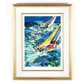 LeRoy Neiman American 19212012  High Seas Sailing