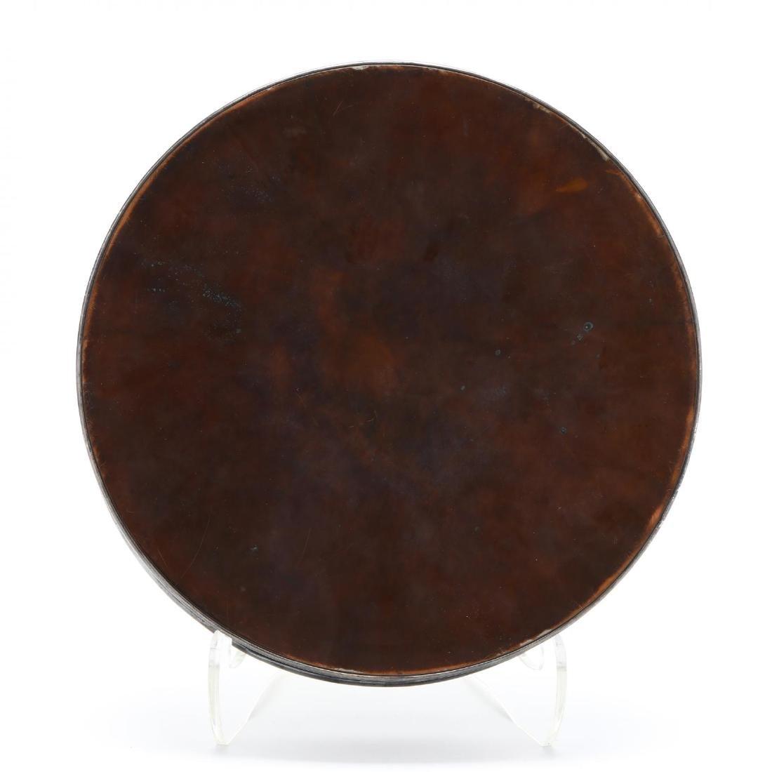 A Bronze and Mixed Metals Circular Box with Bodhisattva - 3