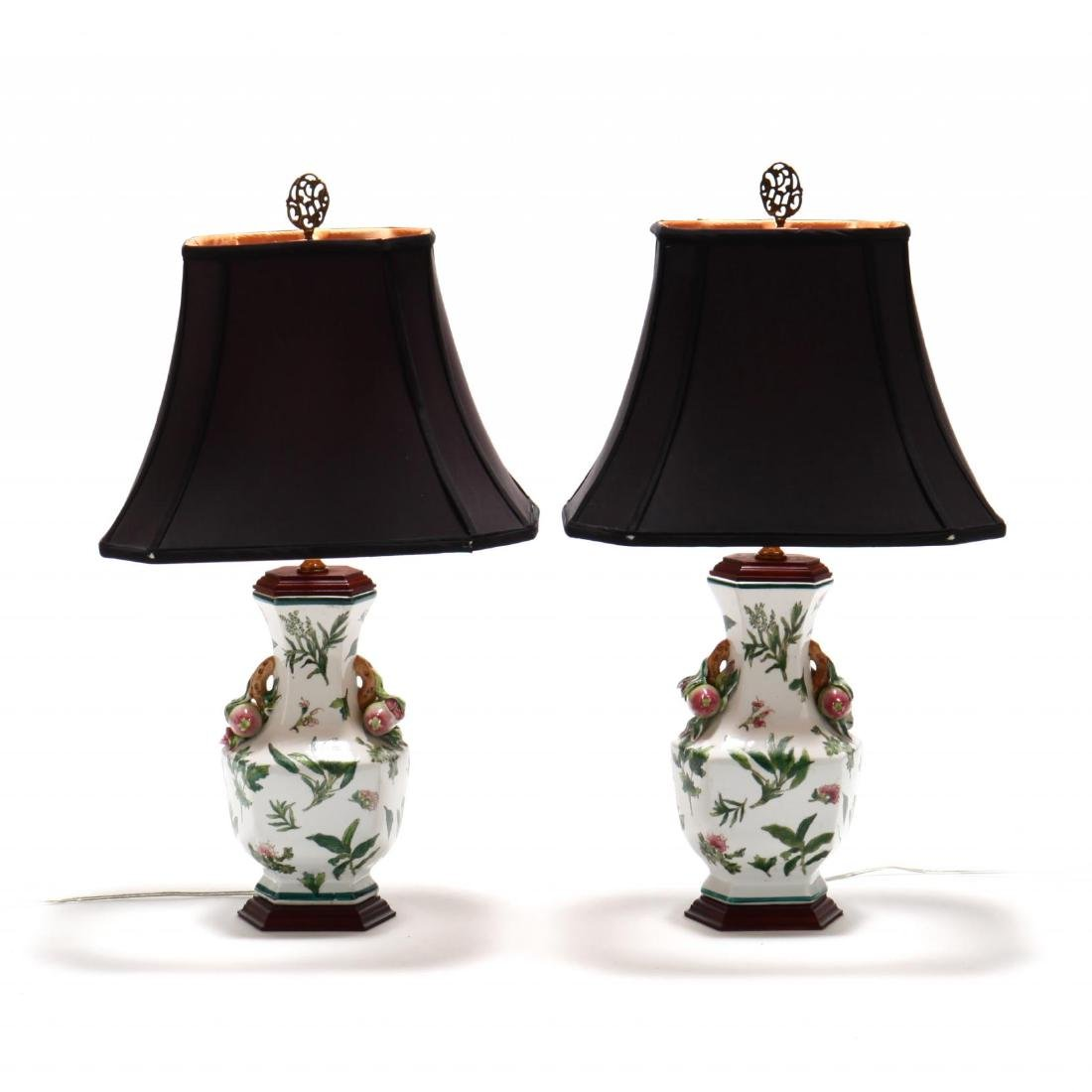 Pair of Chinese Export Table Lamps