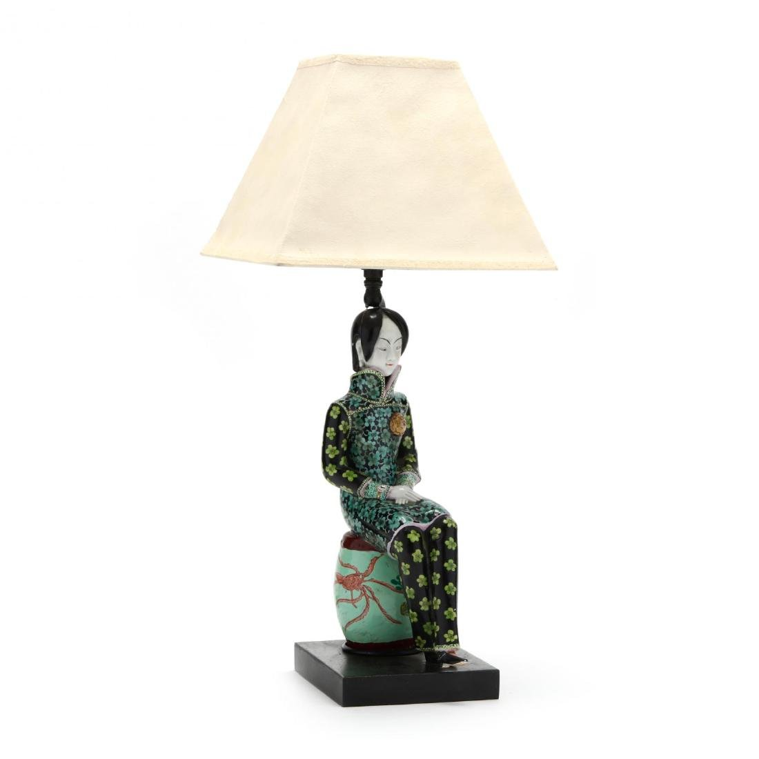 A Chinese Figurine Lamp