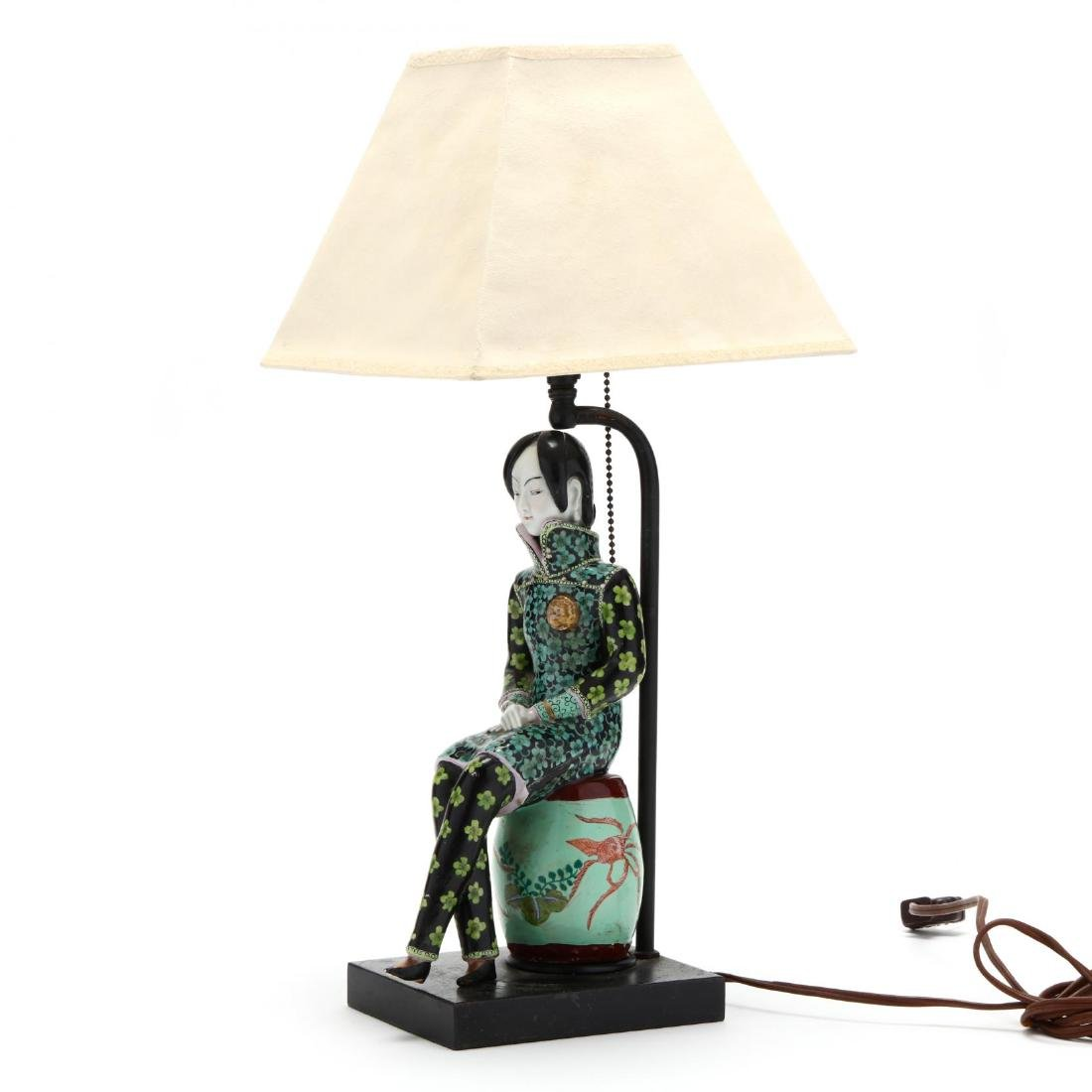 A Chinese Figurine Lamp - 2