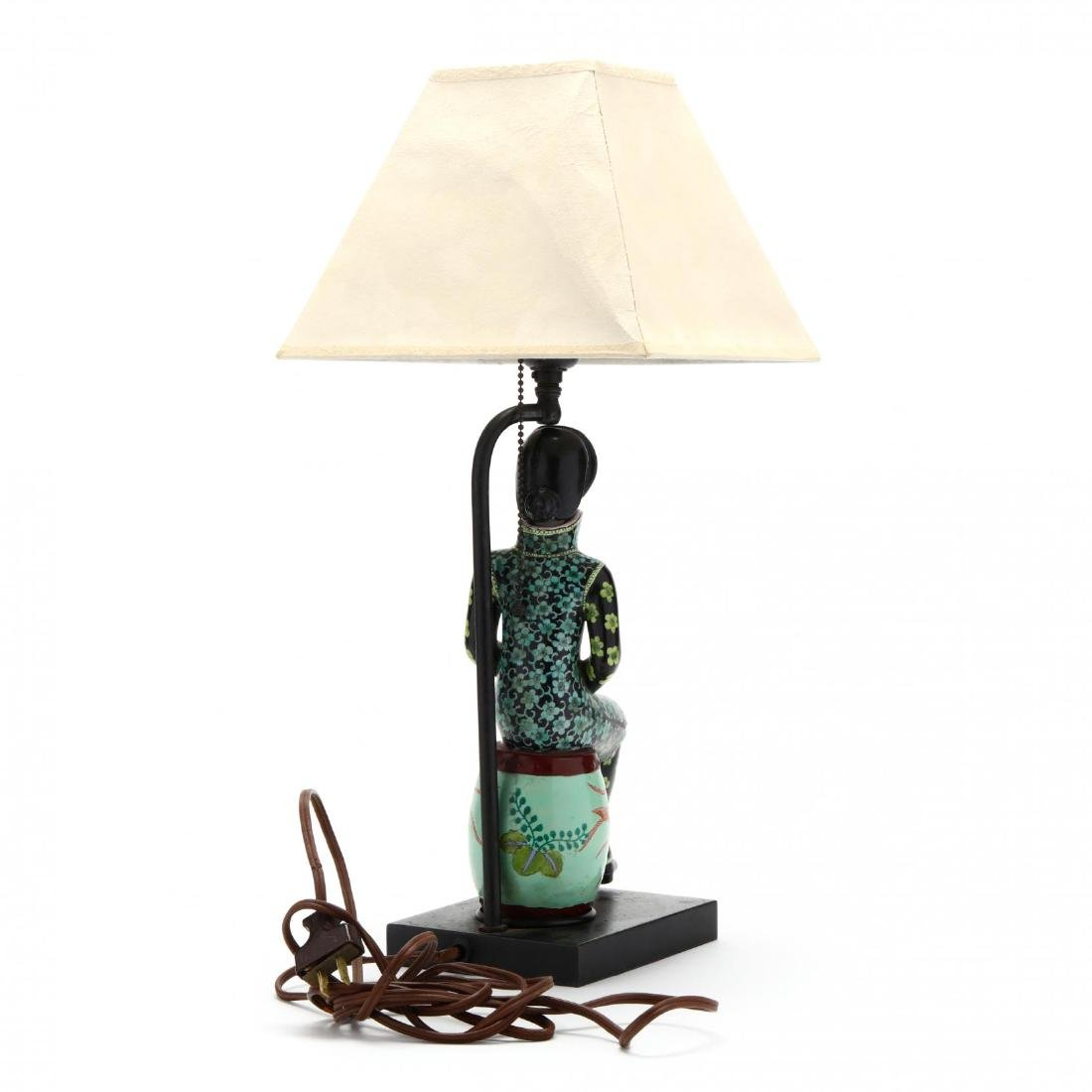 A Chinese Figurine Lamp - 3