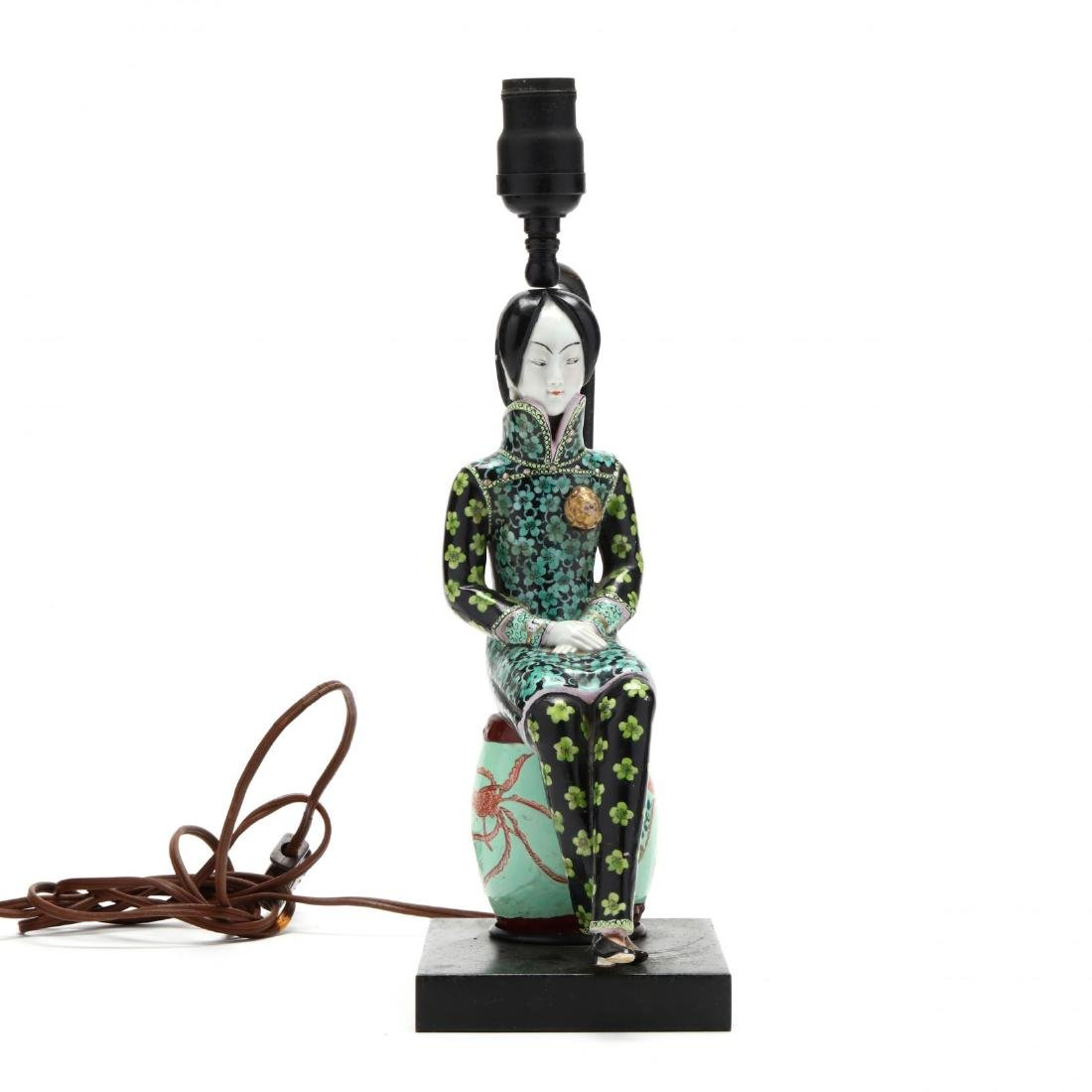 A Chinese Figurine Lamp - 4