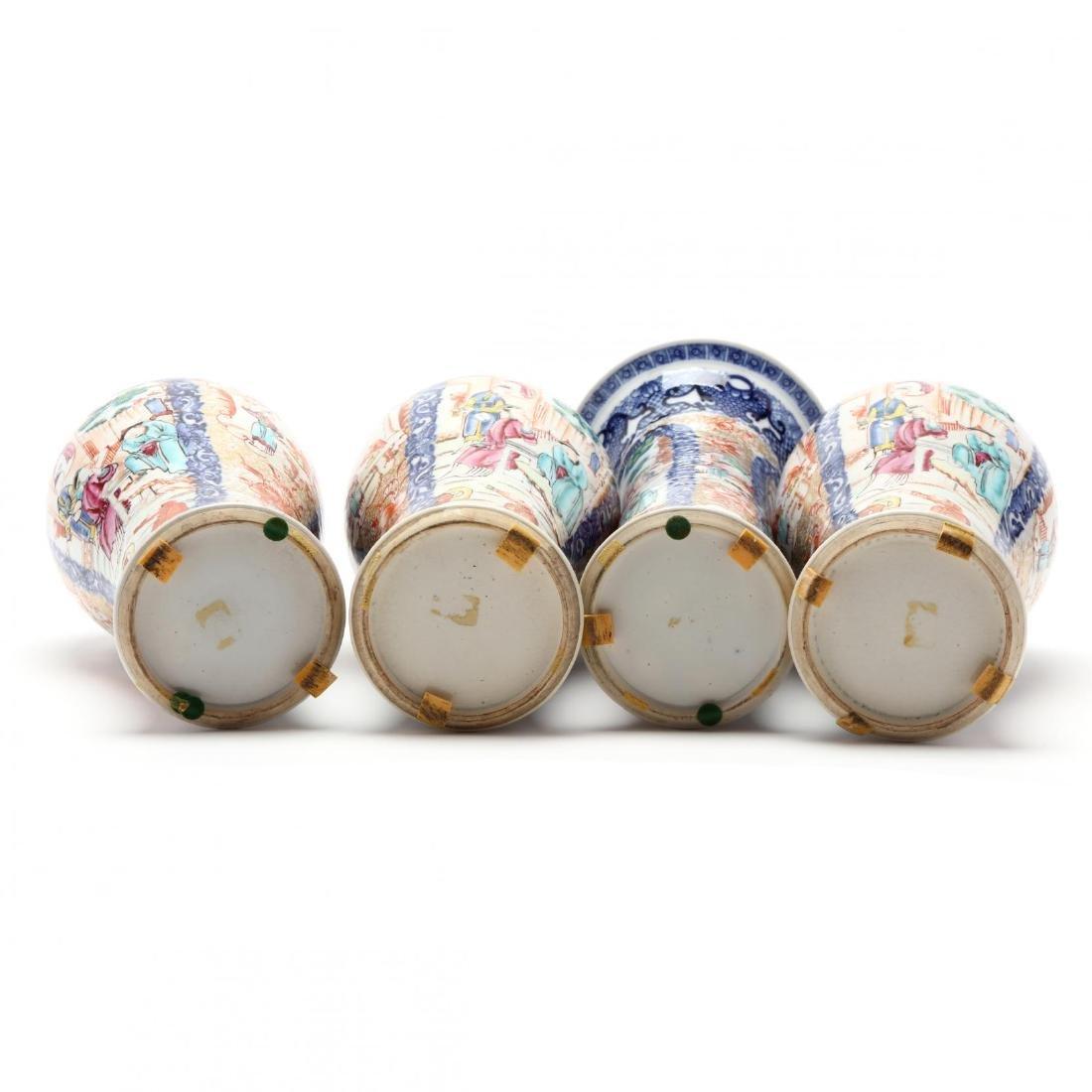 A Chinese Porcelain Mandarin Garniture Set - 5