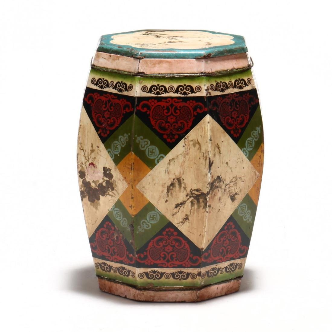 Chinese Painted Garden Stool