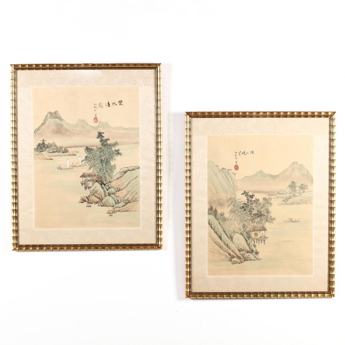 A Pair of Chinese Landscape Paintings