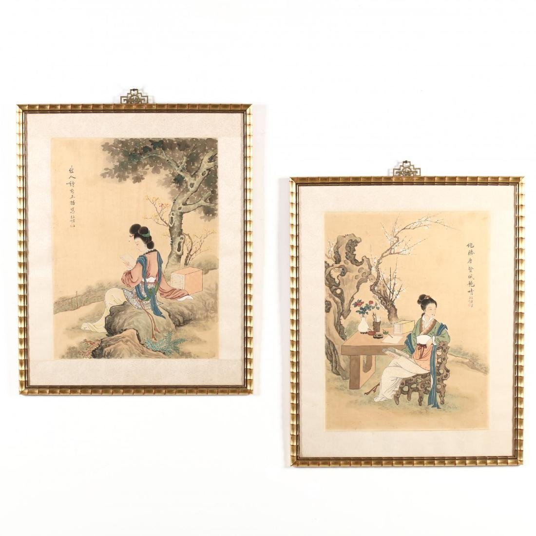 A Pair of Chinese Beauty Paintings