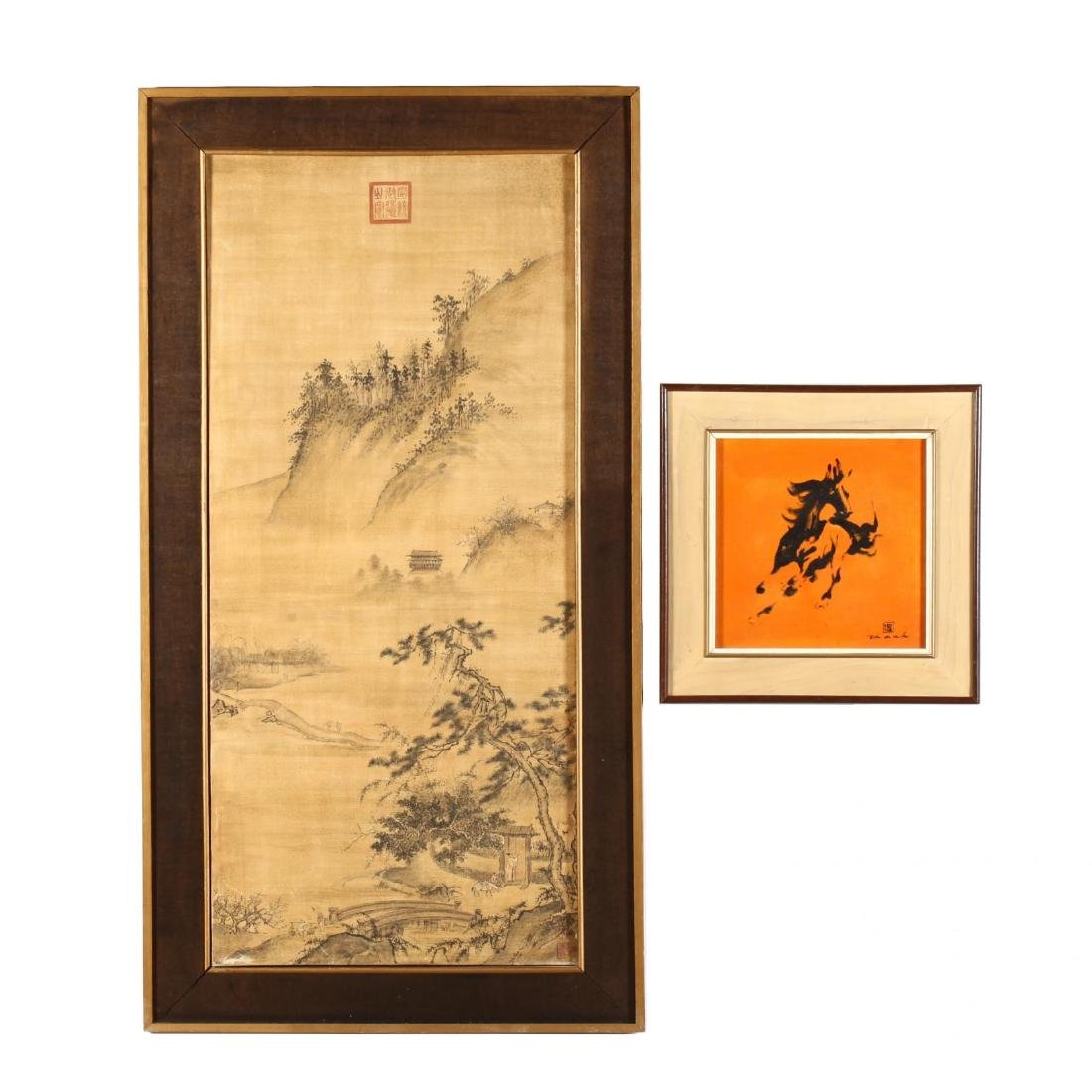 Two Chinese Decorative Paintings