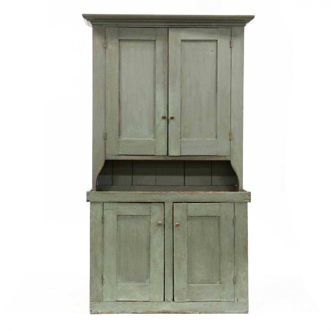 Southern Painted Stepback Flat Wall Cupboard