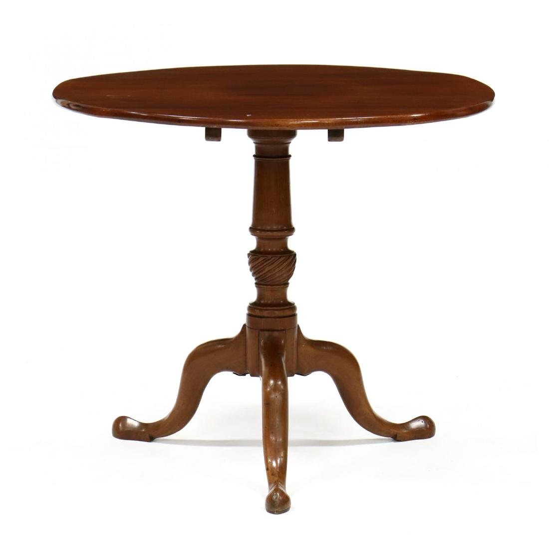 Queen Anne Tilt Top Mahogany Tea Table