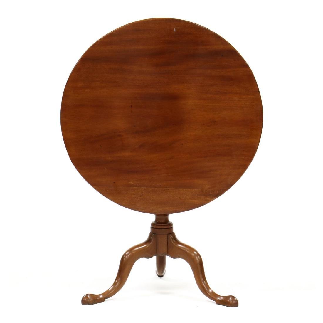 Queen Anne Tilt Top Mahogany Tea Table - 2