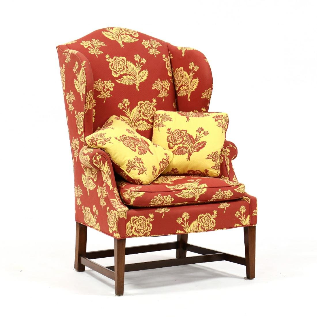 American Hepplewhite Wing Back Chair