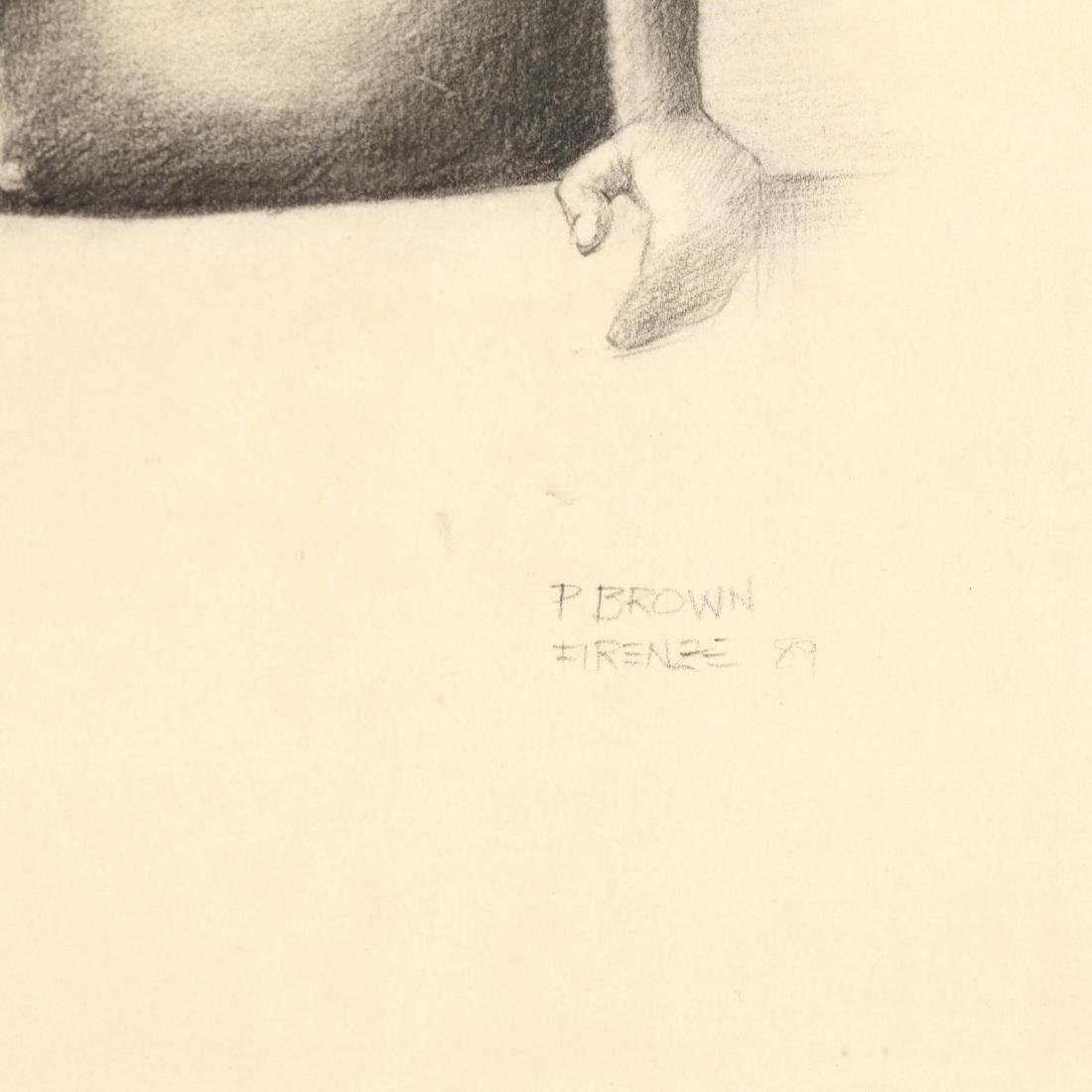 Paul Brown (NC), Seated Nude - 2
