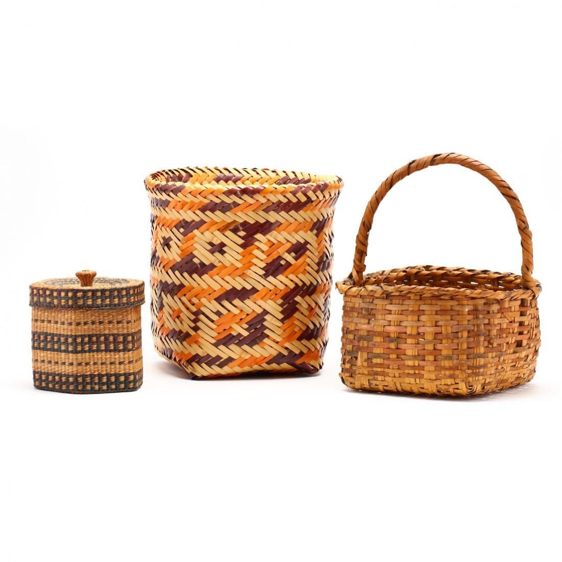 Three Native American Baskets