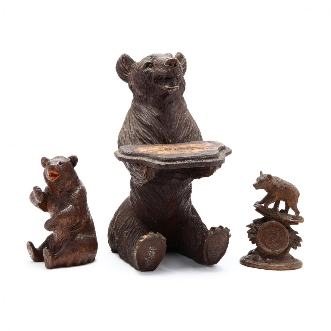 Three Antique Carvings of Bears
