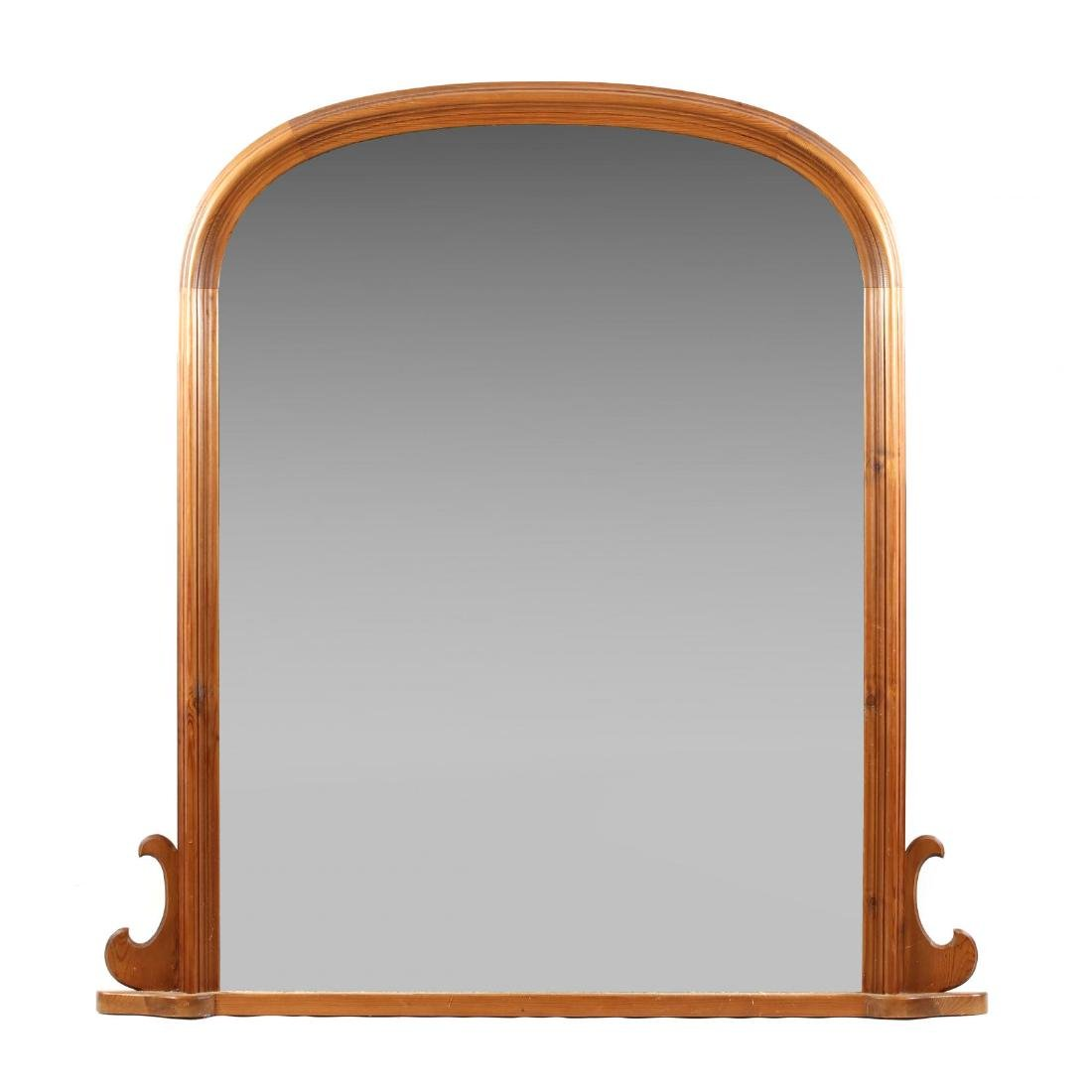 Large Pine Tombstone Mirror