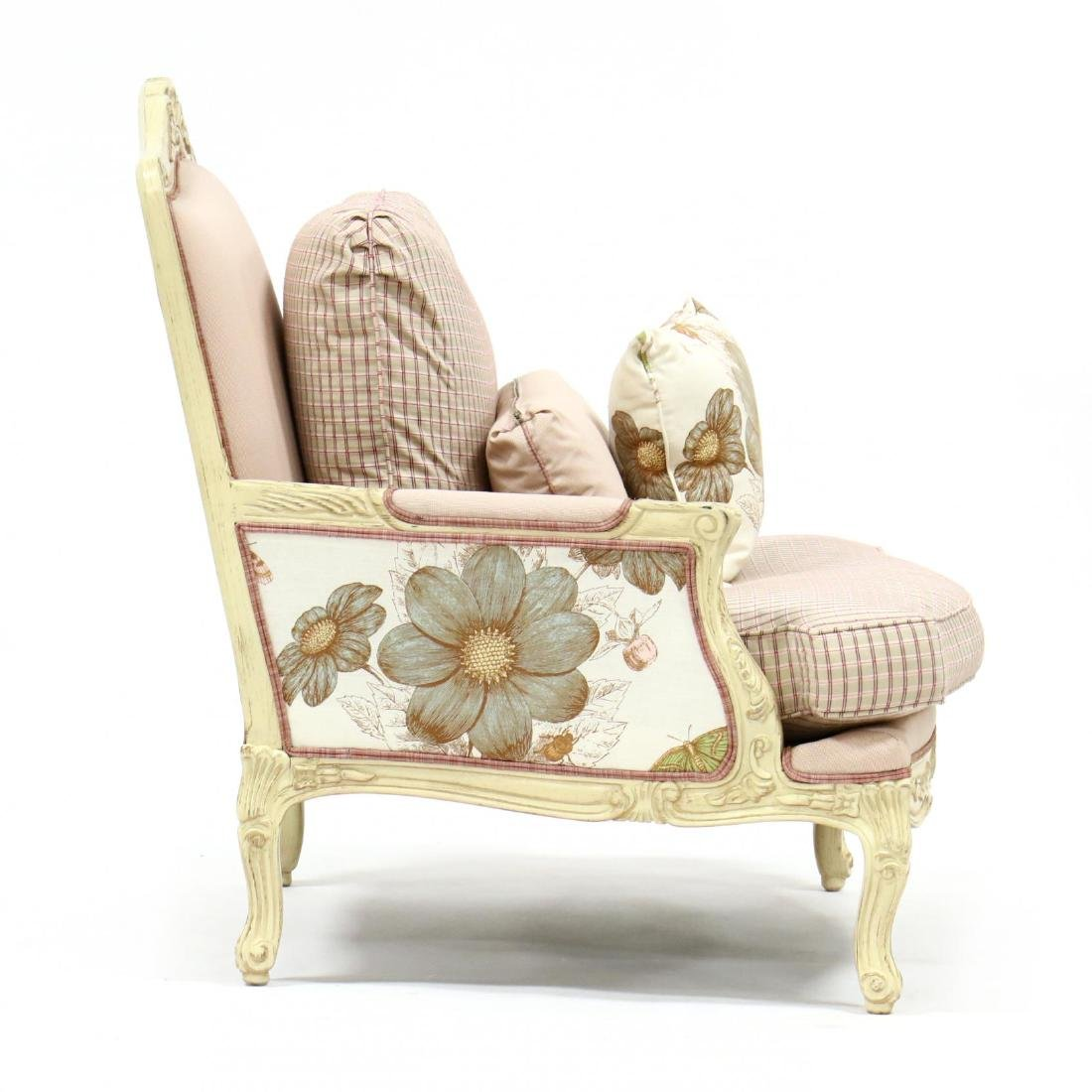 Pair of French Provincial Style Oversized Bergeres - 2
