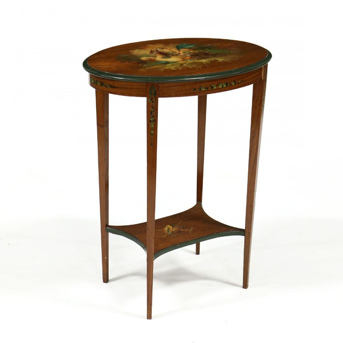 Adam Style Painted Side Table