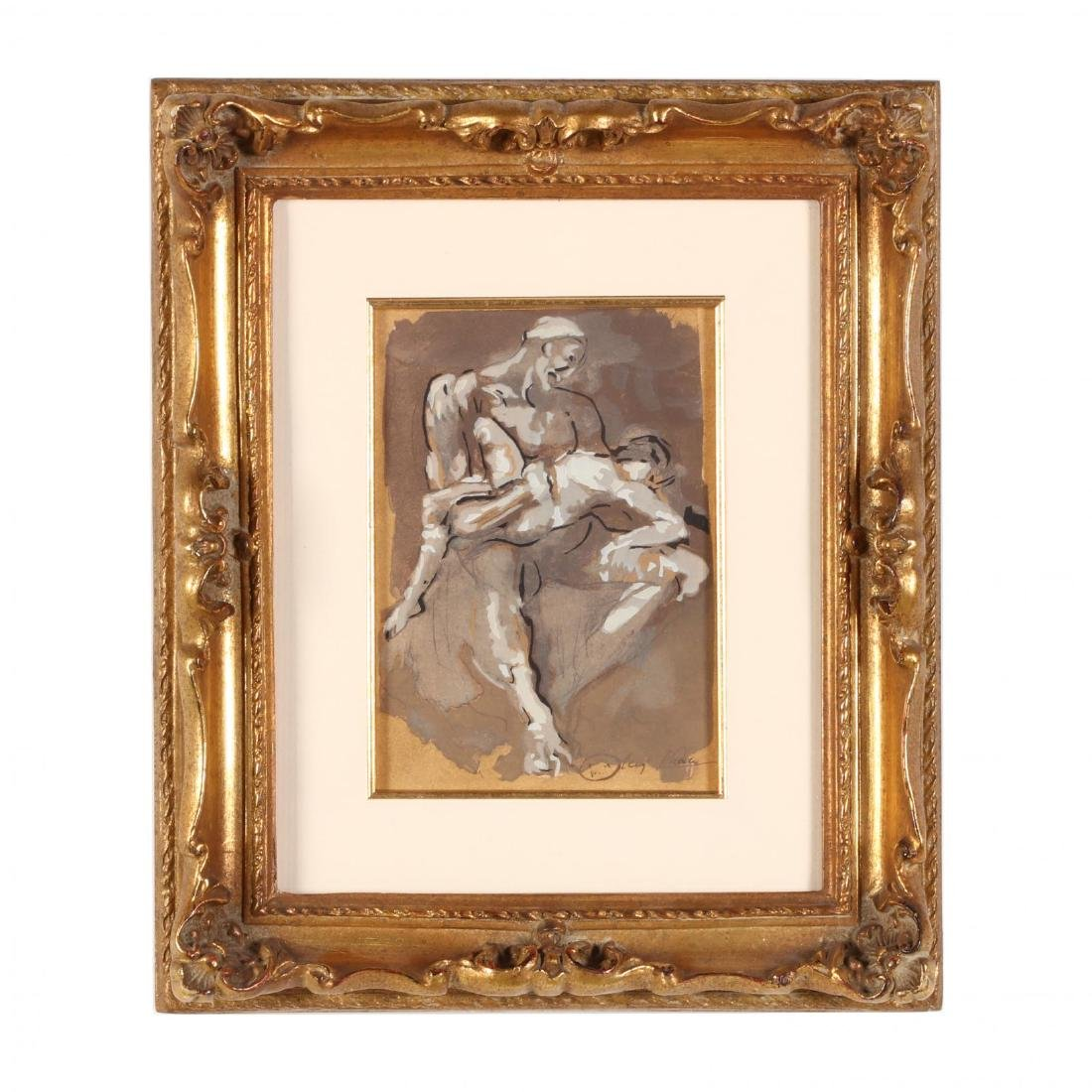 after Auguste Rodin (French, 1840-1917),  Ugolin Dans