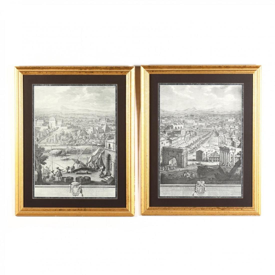 Two Roman Views after Giuseppe Vasi