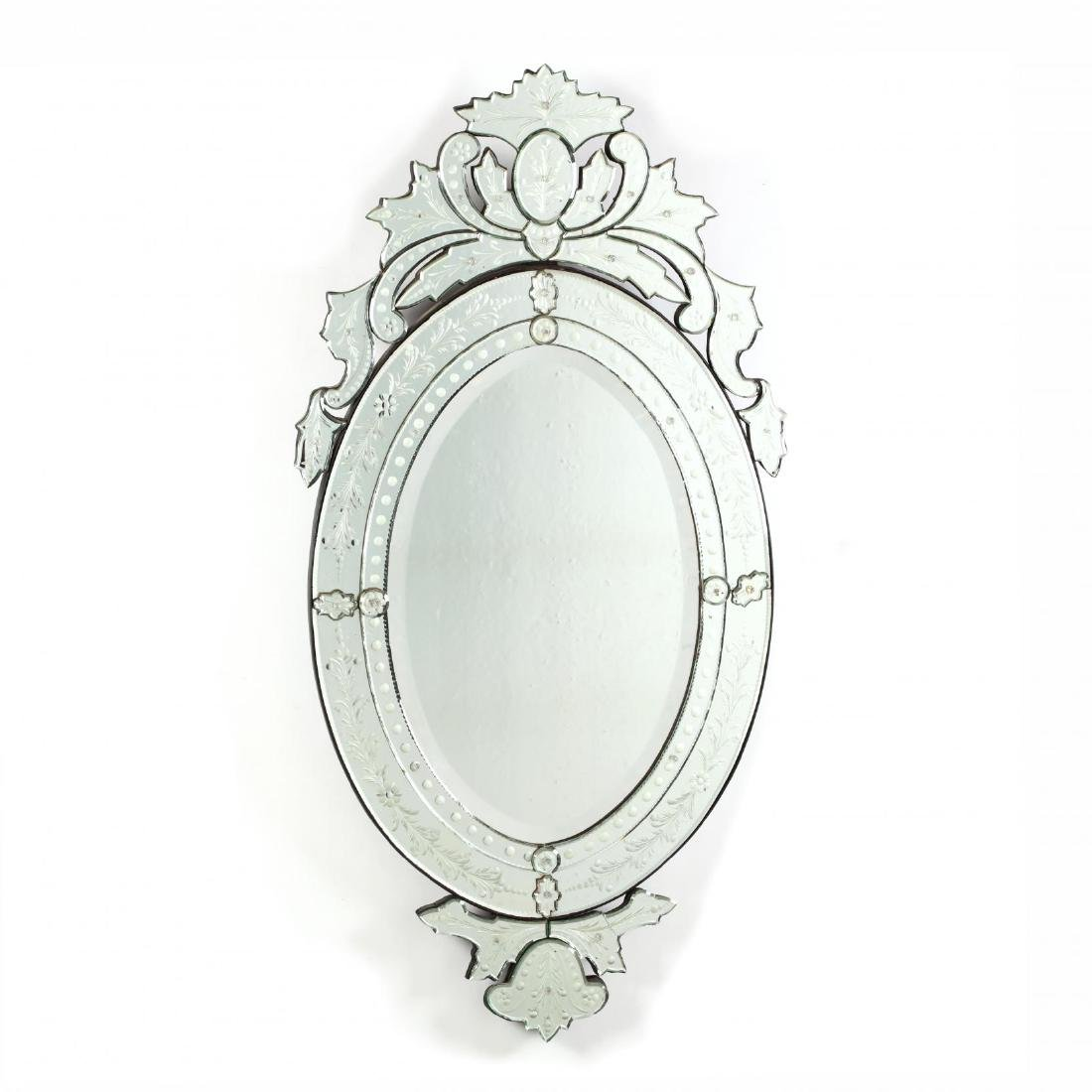 Venetian Etched and Beveled Mirror