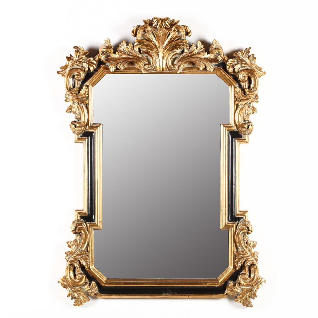 Italianate Painted and Gilt Composition Wall Mirror