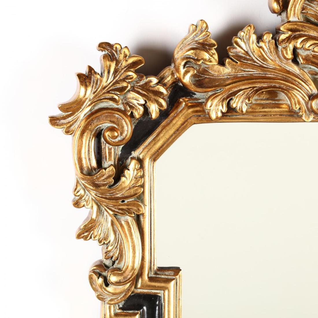 Italianate Painted and Gilt Composition Wall Mirror - 2