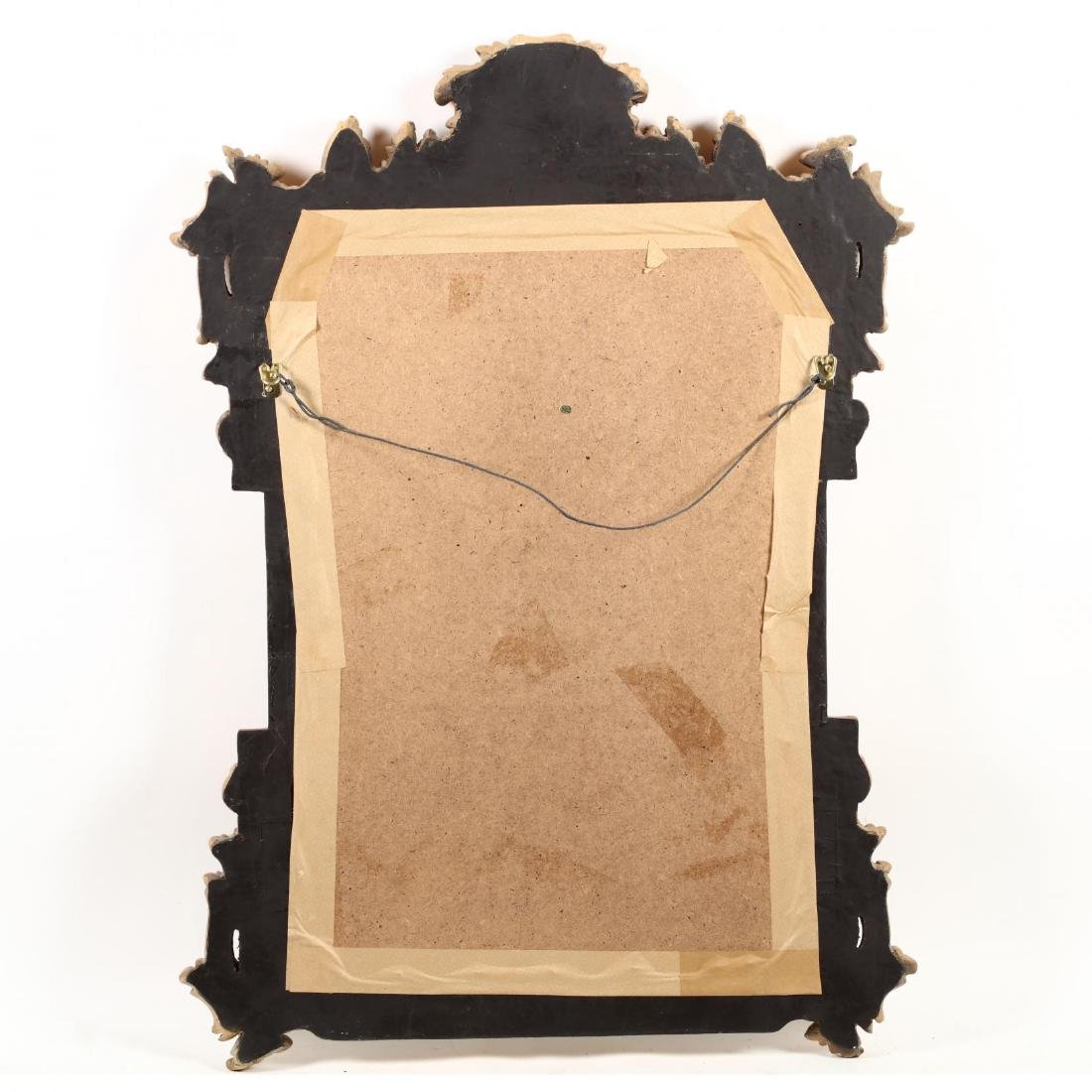Italianate Painted and Gilt Composition Wall Mirror - 3