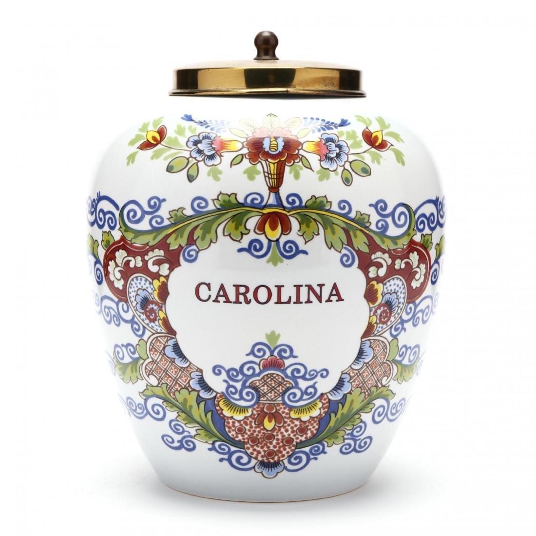 "Royal Copenhagen, ""Carolina"" Delft Jar - 2"