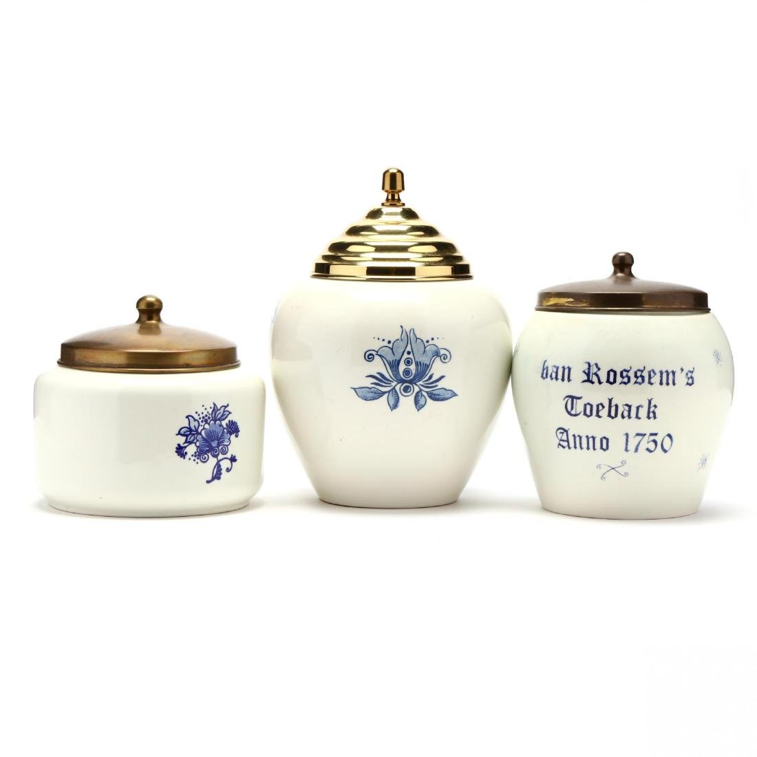 Three Blue and White Delft Jars - 2