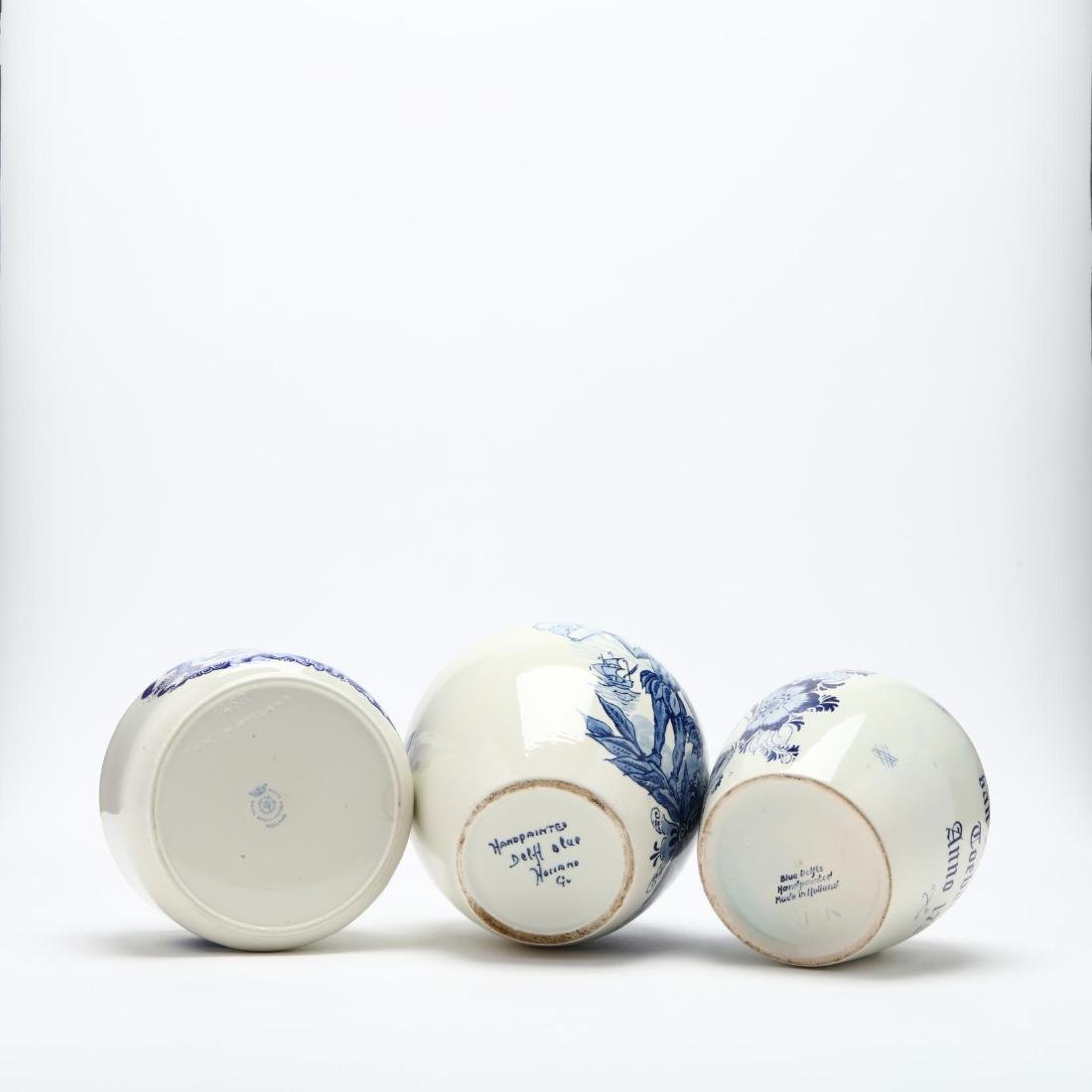 Three Blue and White Delft Jars - 5