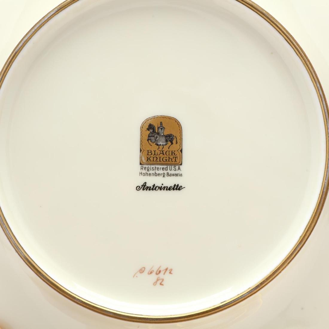 "Set of Six Black Knight ""Antoinette"" Plates - 3"