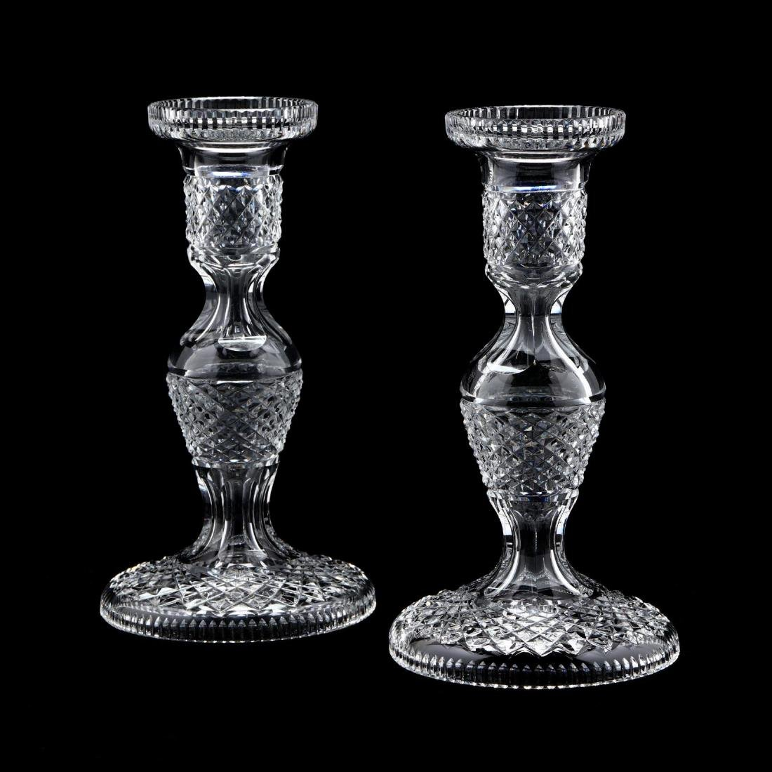Waterford, Pair of Crystal Candlesticks