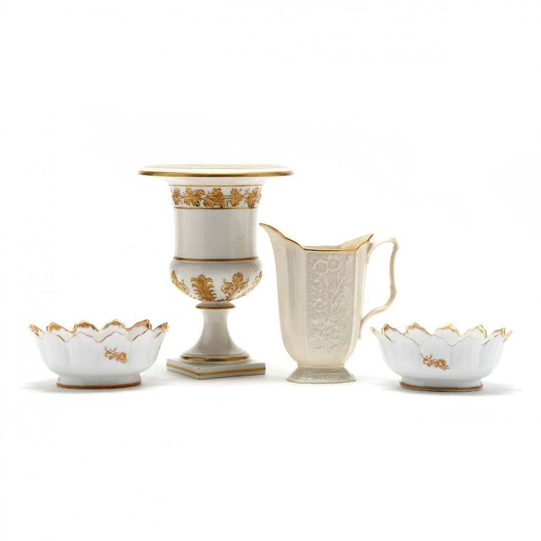 Group of Porcelain Serving Accessories