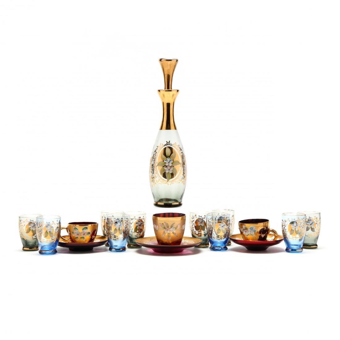 18 Pieces of Vintage Venetian Glass