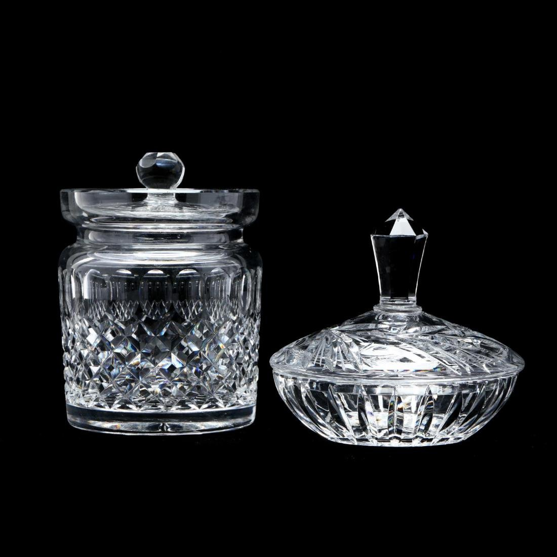 Two Cut Crystal Table Accessories