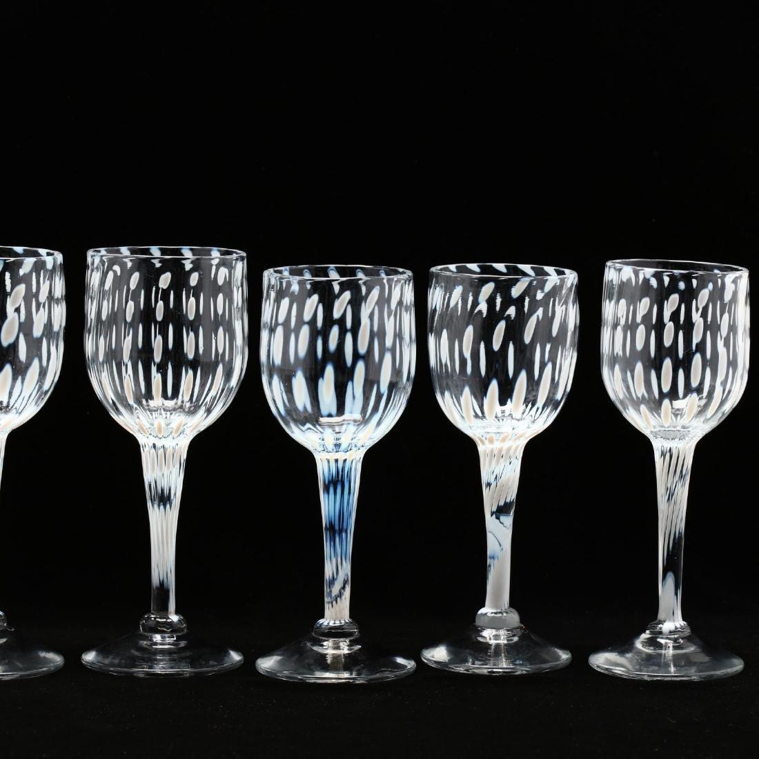 Cam Langley (AL), Set of Eight Art Glass Stems - 3