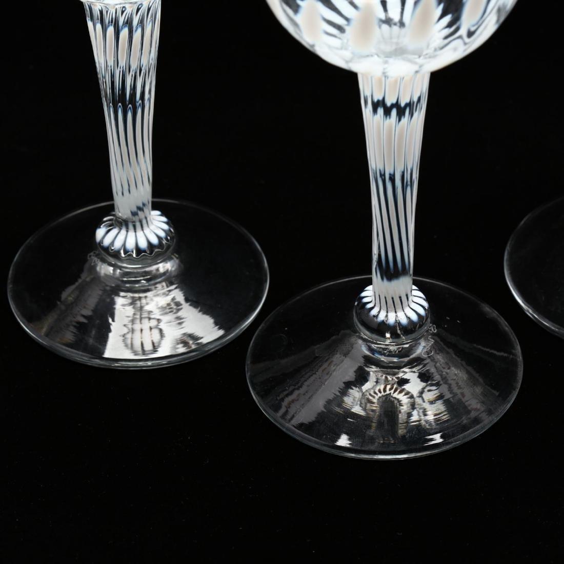 Cam Langley (AL), Set of Eight Art Glass Stems - 4