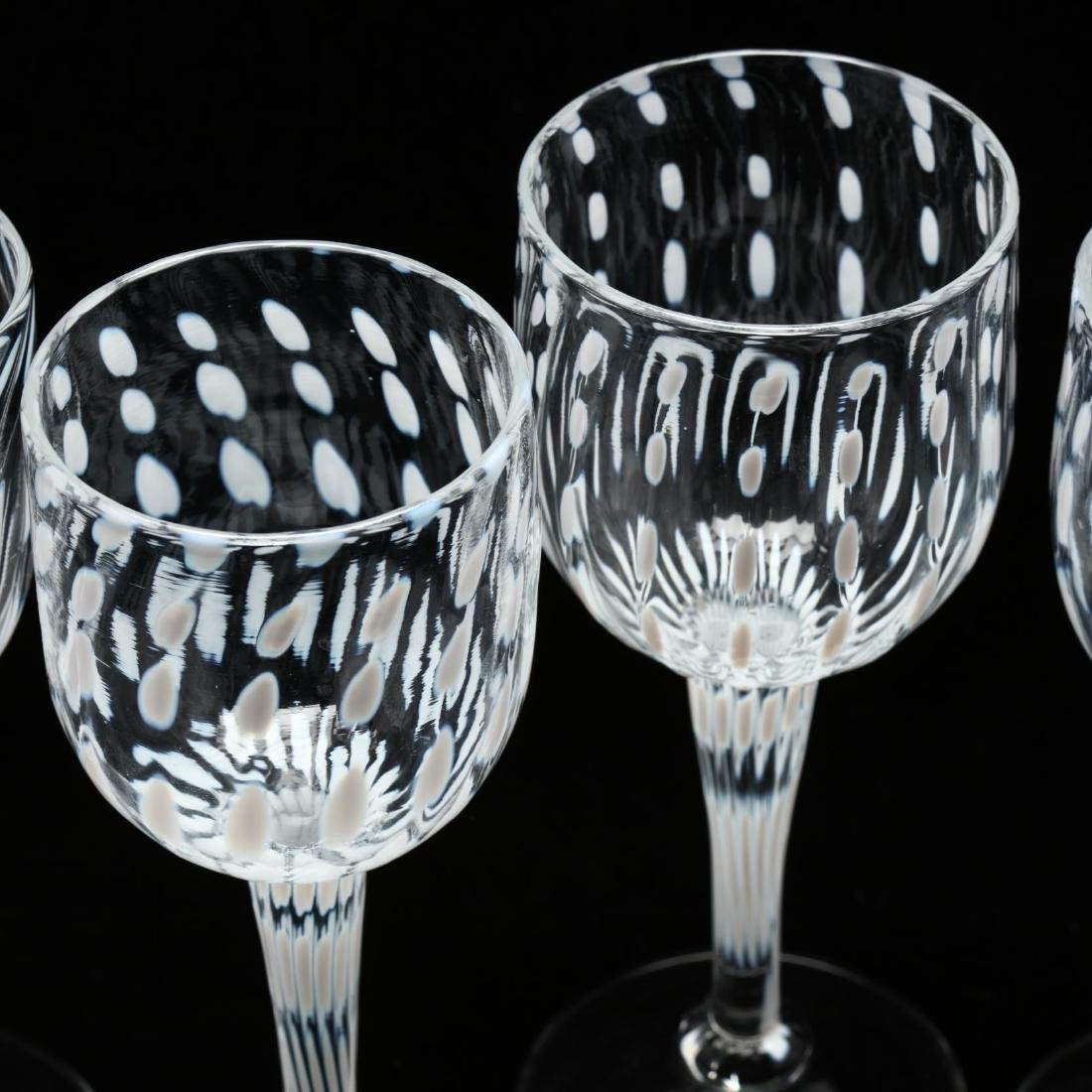 Cam Langley (AL), Set of Eight Art Glass Stems - 5