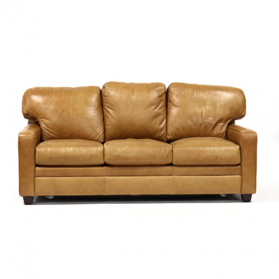 Bradington Young, Leather Upholstered Sleeper Sofa