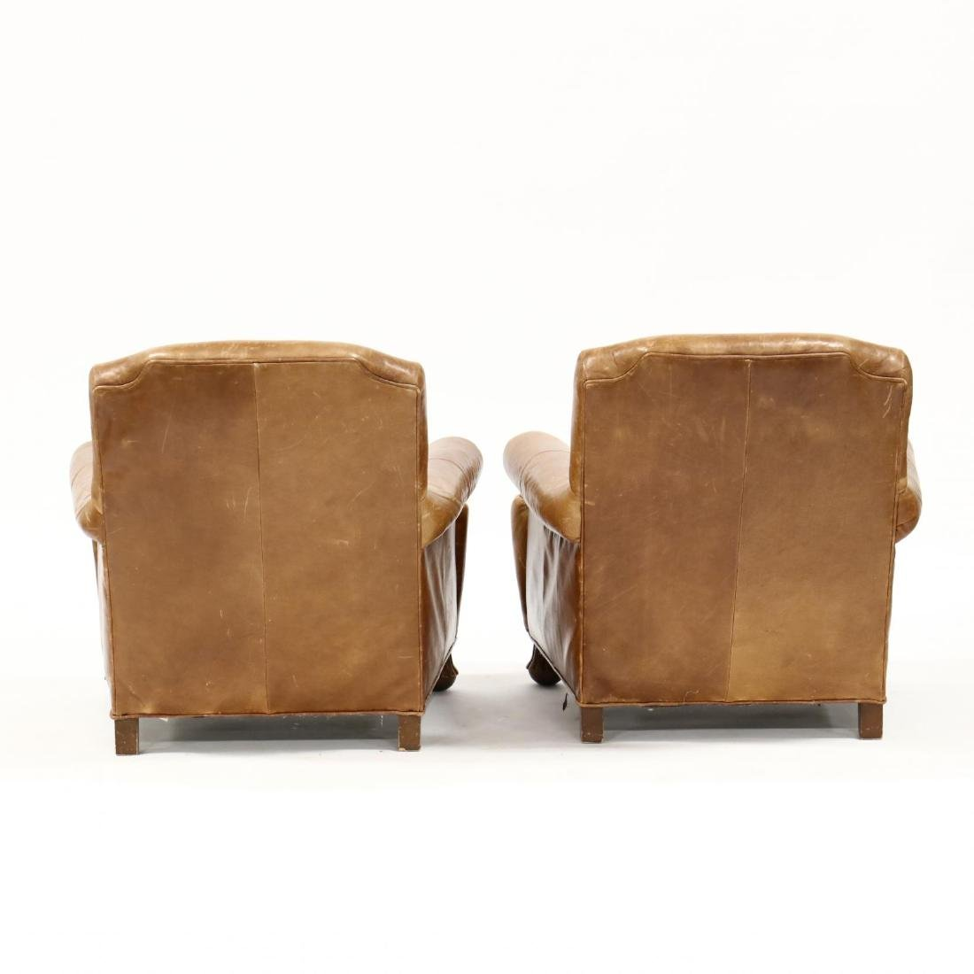 ABC Carpet & Home, Pair of Leather Club Chairs and - 3