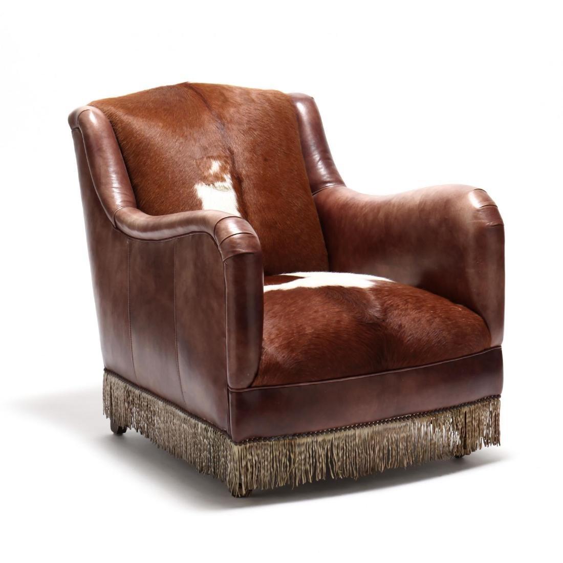 Southwestern Leather Club Chair