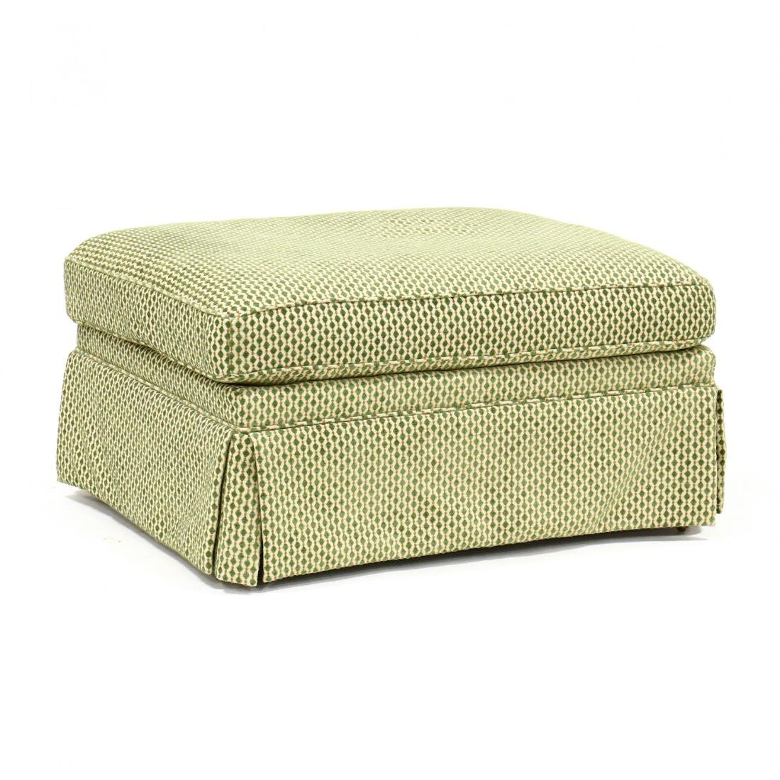 Contemporary Pillow Top Ottoman on Casters