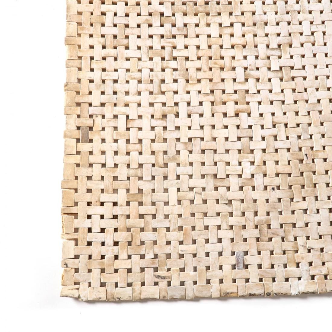 Contemporary Wood Bead Rug - 2