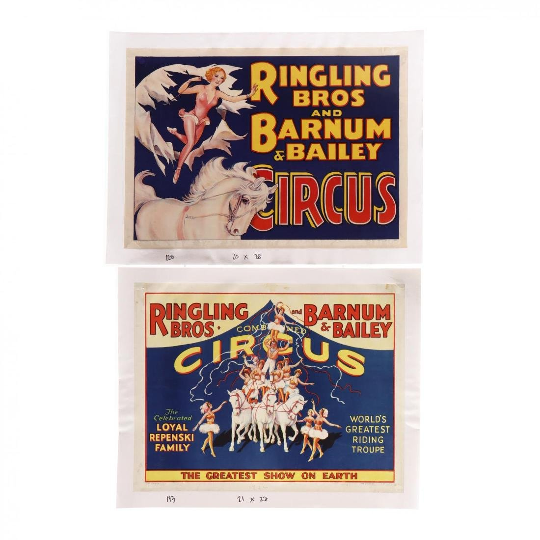 Two Ringling Bros and Barnum & Bailey Circus Posters,