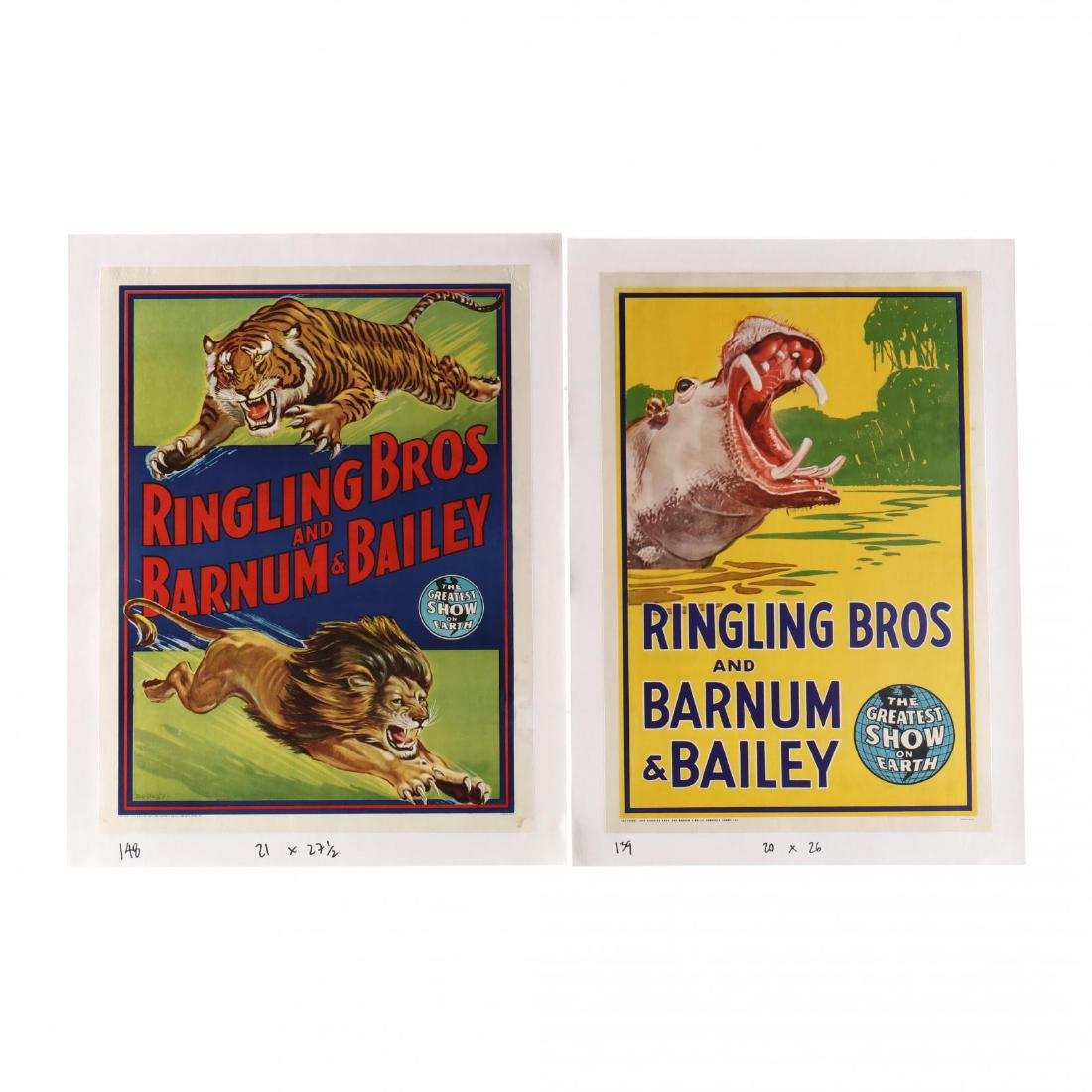 Two Ringling Bros and Barnum & Bailey Vintage Circus