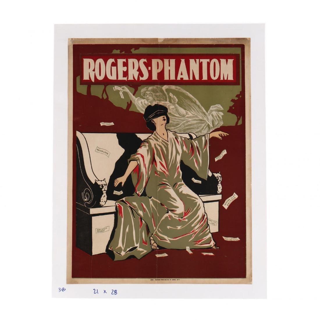 Rogers' Phantom , Vintage Theater Poster
