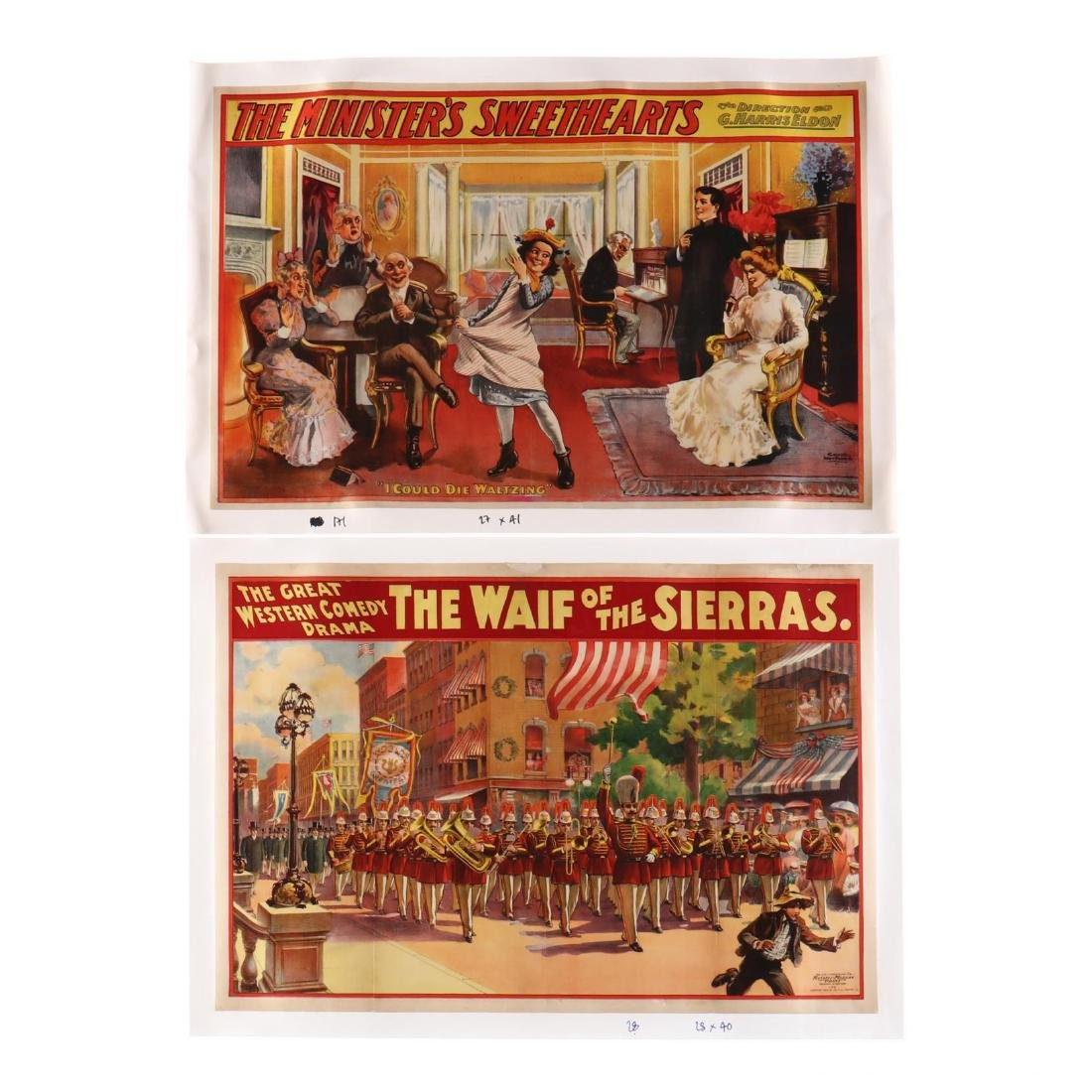 Two Vintage Theater Posters -  The Waif of the Sierras