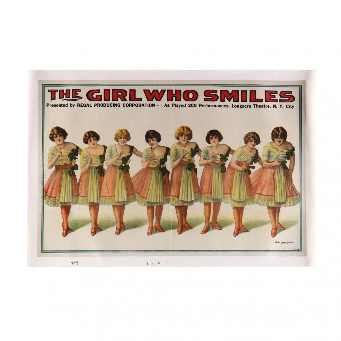 The Girl Who Smiles , Vintage Theater Poster